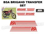 BSA Brigand Transfer Decal Set DBSA22 Red